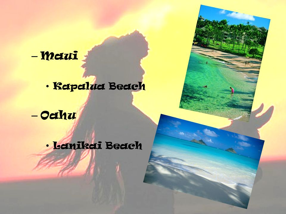 Maui Kapalua Beach Oahu Lanikai Beach