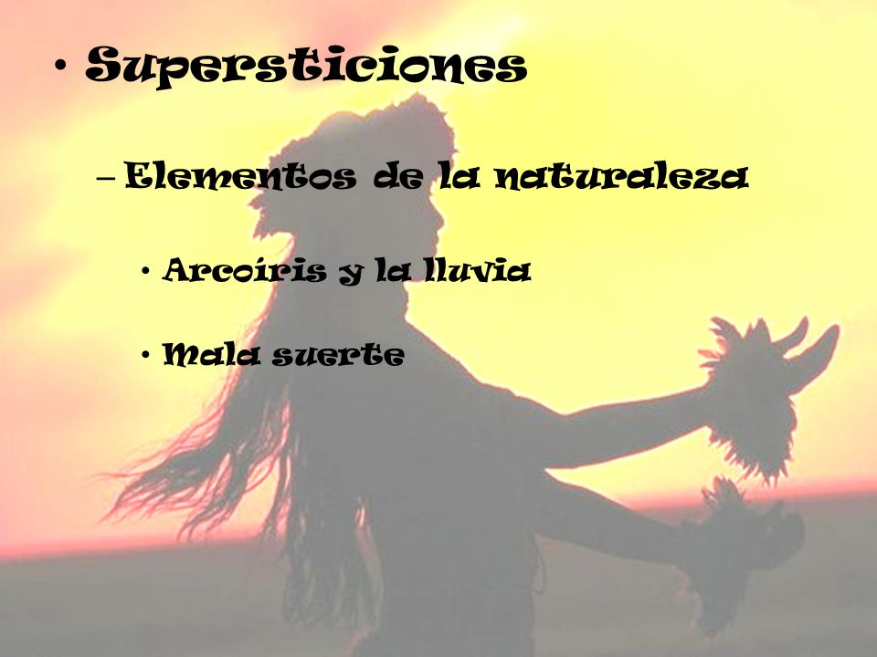 Supersticiones Elementos de la naturaleza Arcoíris y la lluvia