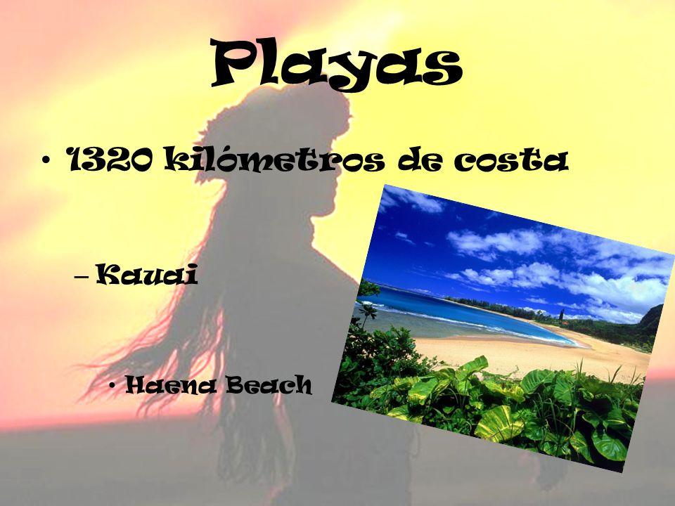 Playas 1320 kilómetros de costa Kauai Haena Beach