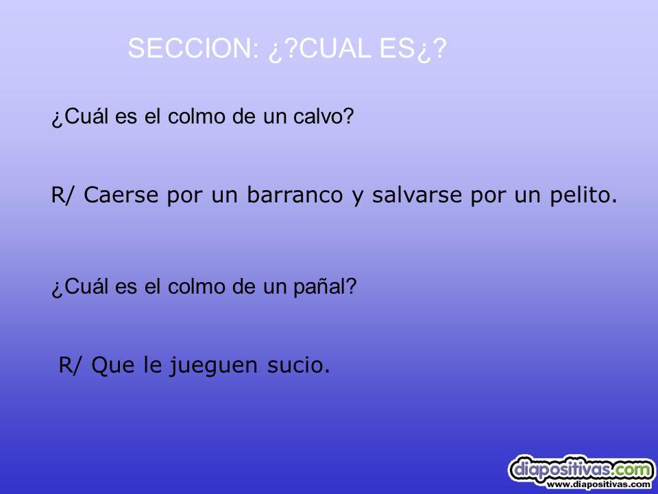 SECCION: ¿ CUAL ES¿ ¿Cuál es el colmo de un calvo