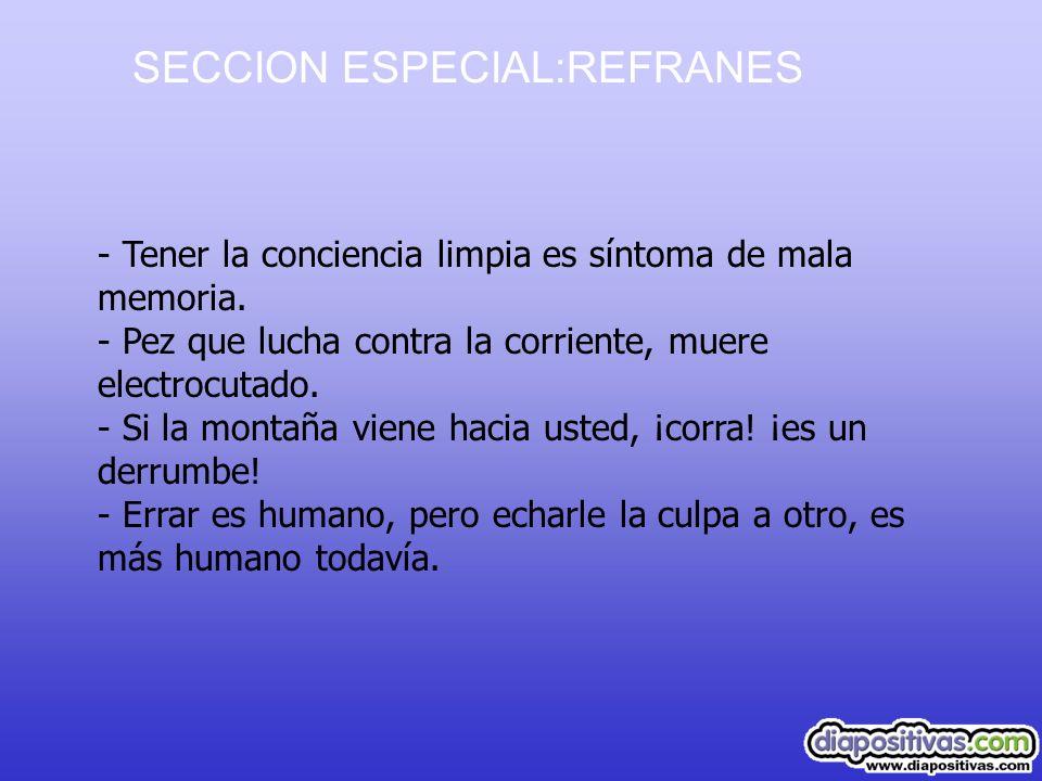 SECCION ESPECIAL:REFRANES