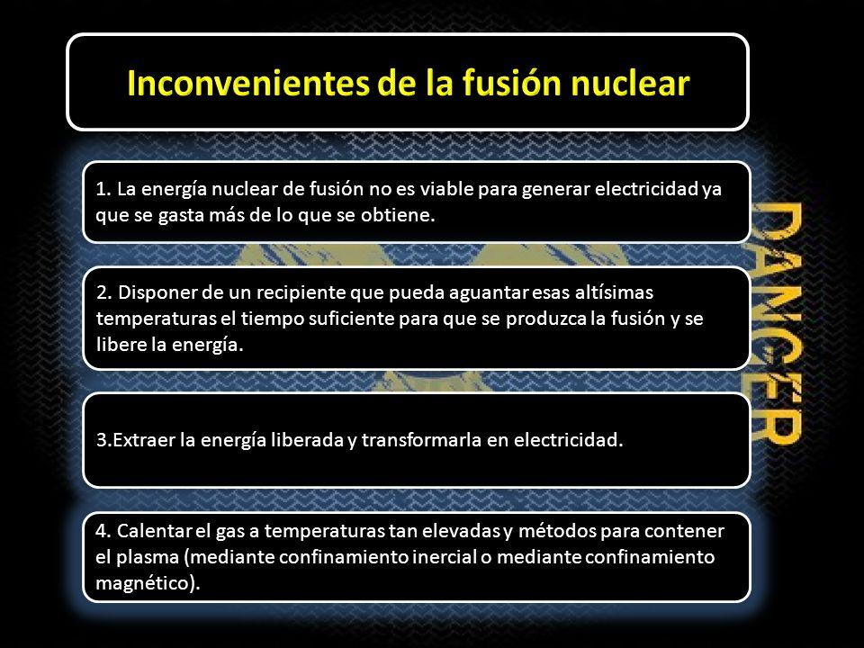Inconvenientes de la fusión nuclear