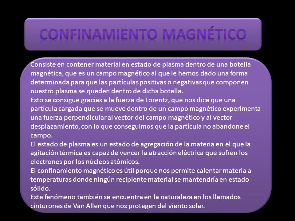 Confinamiento magnético
