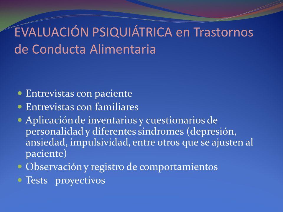 EVALUACIÓN PSIQUIÁTRICA en Trastornos de Conducta Alimentaria