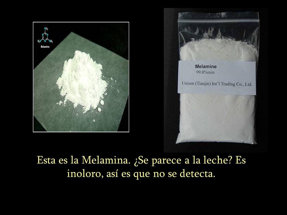 Esta es la Melamina. ¿Se parece a la leche