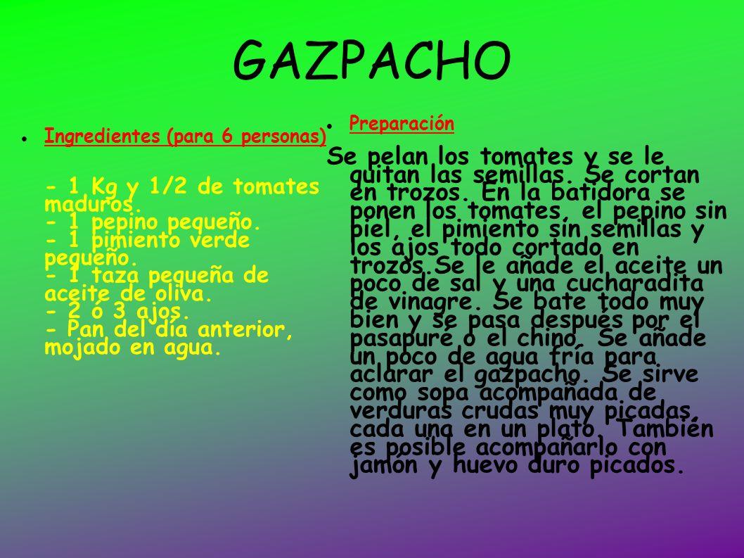GAZPACHO Preparación.