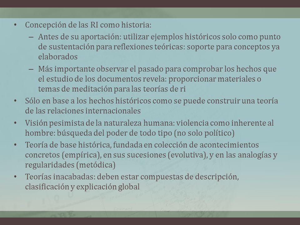 Concepción de las RI como historia: