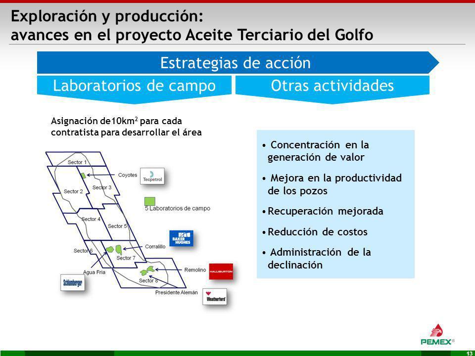 Exploración y producción: avances en el proyecto Aceite Terciario del Golfo