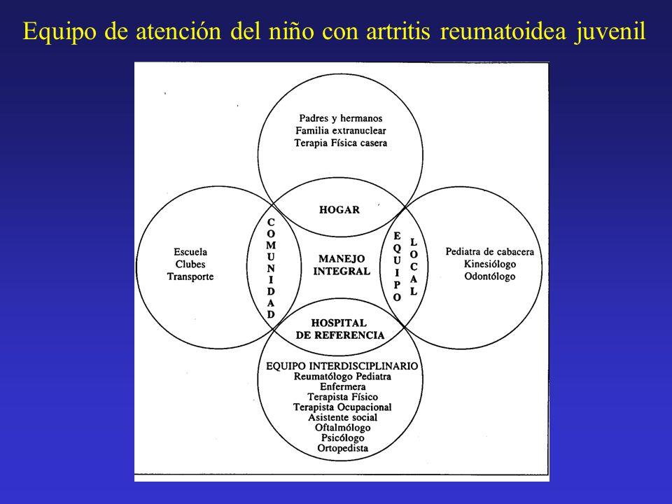 Equipo de atención del niño con artritis reumatoidea juvenil