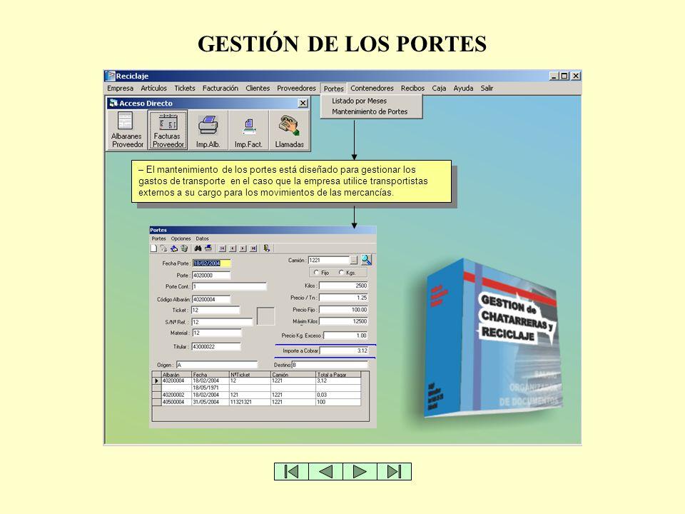 GESTIÓN DE LOS PORTES