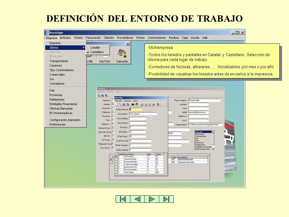 DEFINICIÓN DEL ENTORNO DE TRABAJO