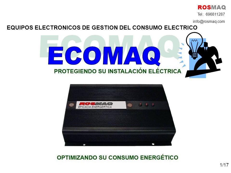 ECOMAQ ROSMAQ EQUIPOS ELECTRONICOS DE GESTION DEL CONSUMO ELECTRICO