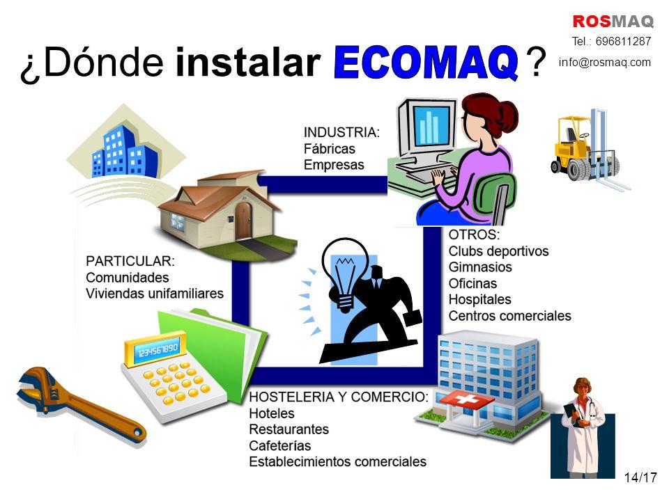 ROSMAQ ¿Dónde instalar Tel.: 696811287 info@rosmaq.com ECOMAQ 14/17