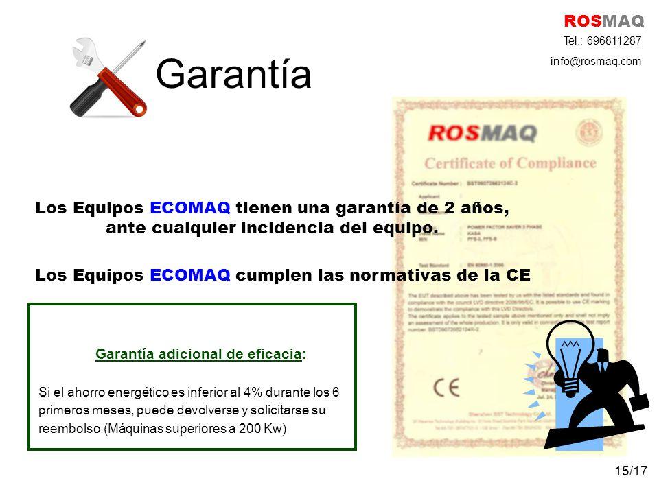 Los Equipos ECOMAQ cumplen las normativas de la CE