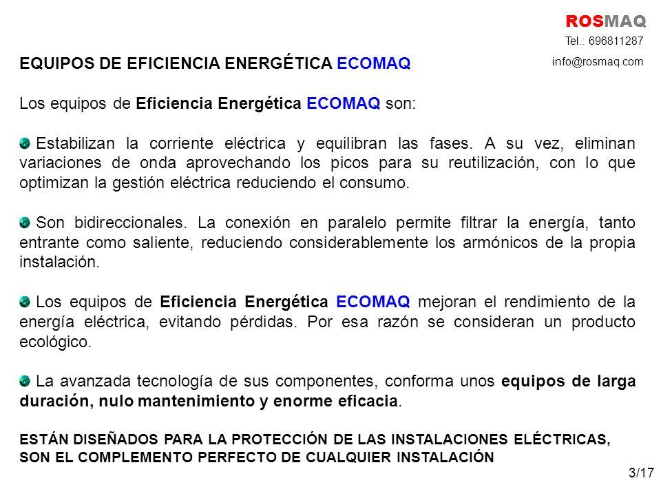 EQUIPOS DE EFICIENCIA ENERGÉTICA ECOMAQ