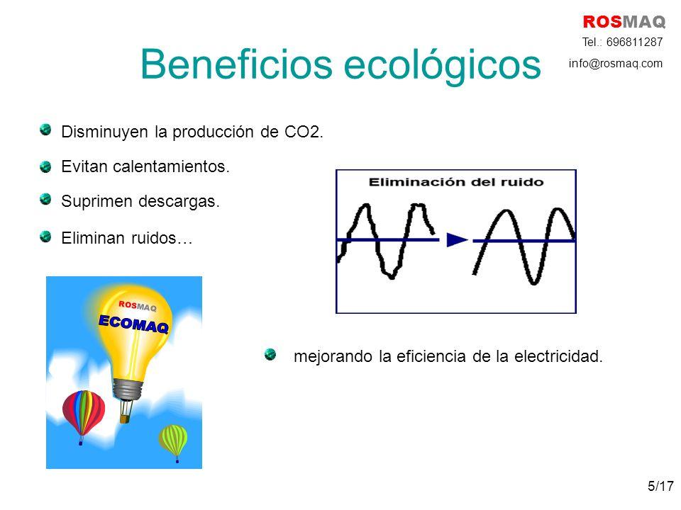 Beneficios ecológicos