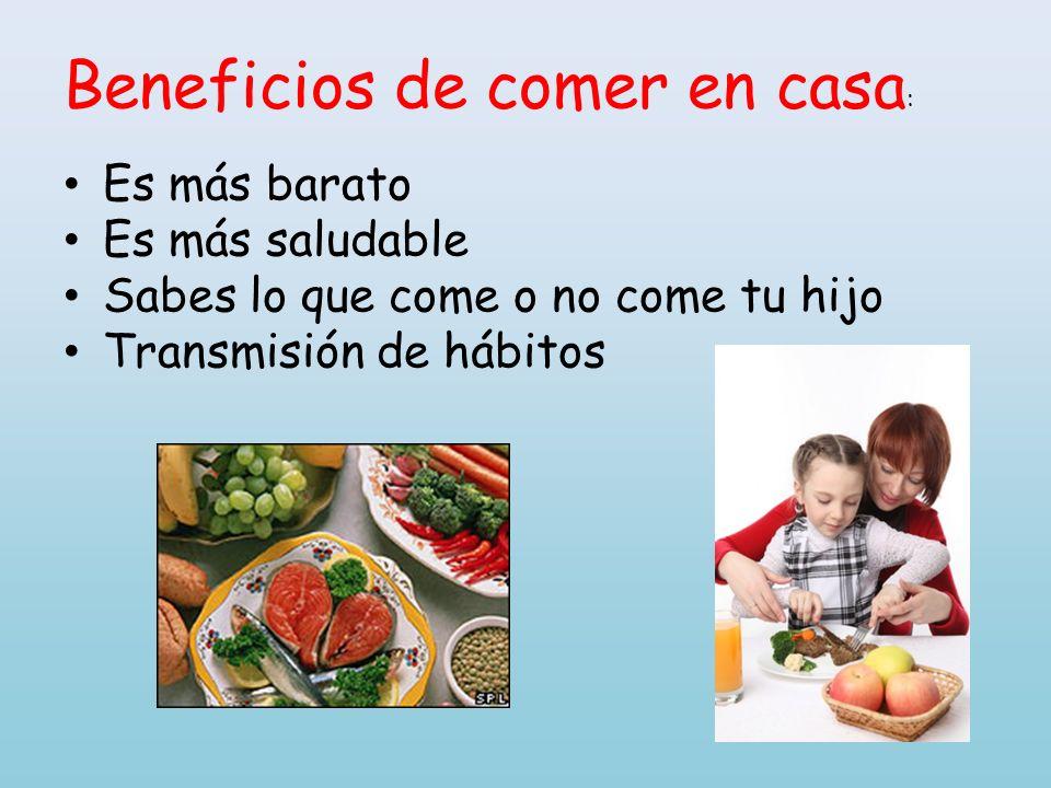 Beneficios de comer en casa: