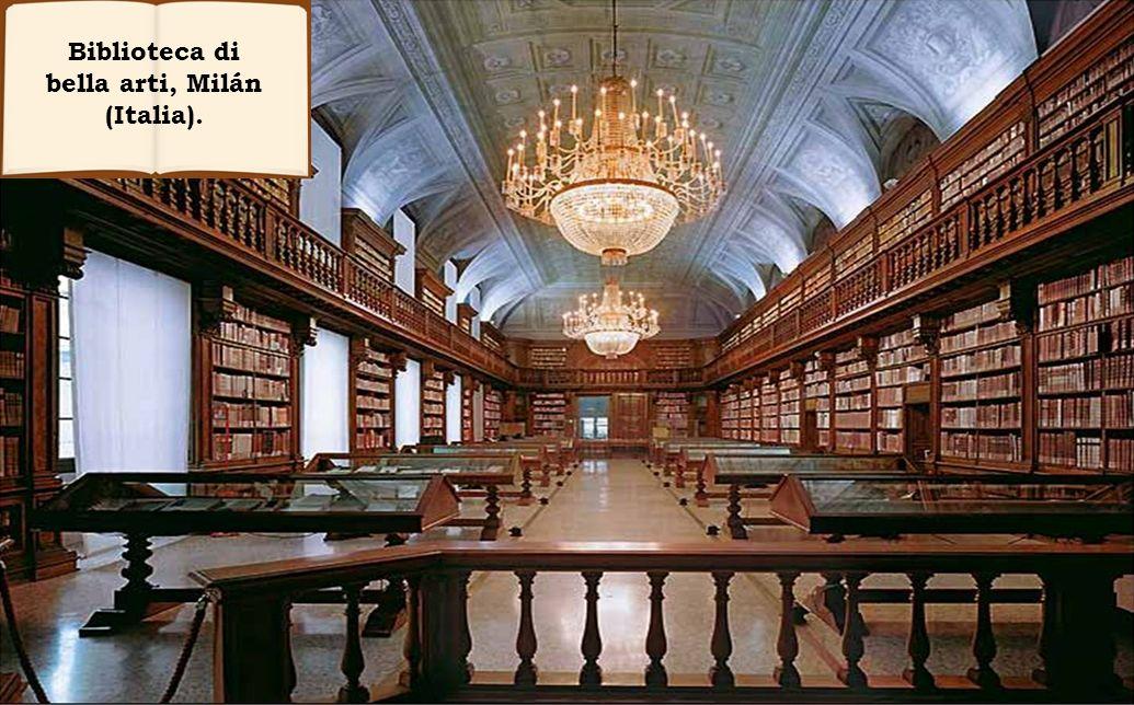 Biblioteca di bella arti, Milán (Italia).