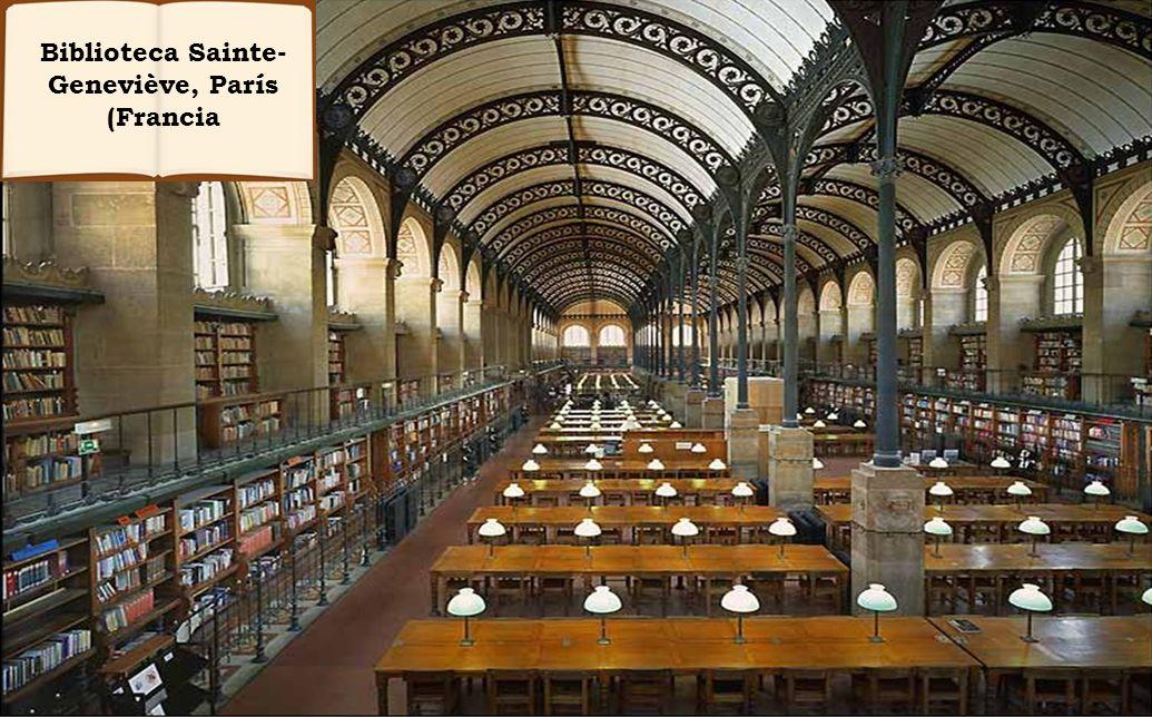 Biblioteca Sainte-Geneviève, París (Francia