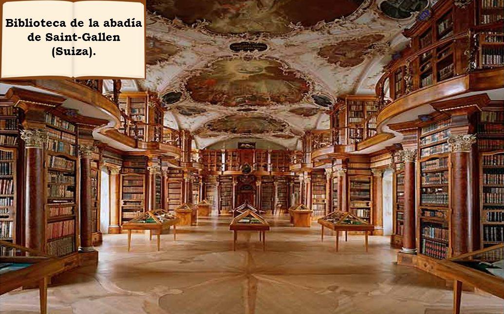 Biblioteca de la abadía de Saint-Gallen (Suiza).