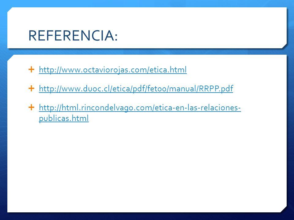 REFERENCIA: http://www.octaviorojas.com/etica.html