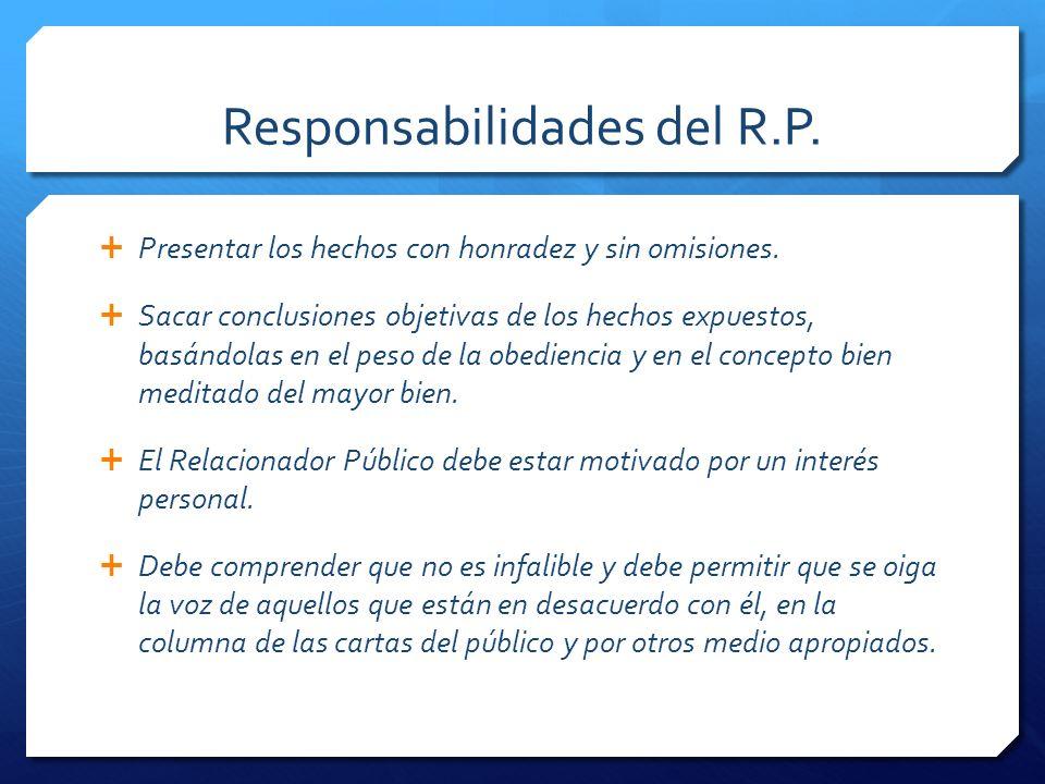 Responsabilidades del R.P.