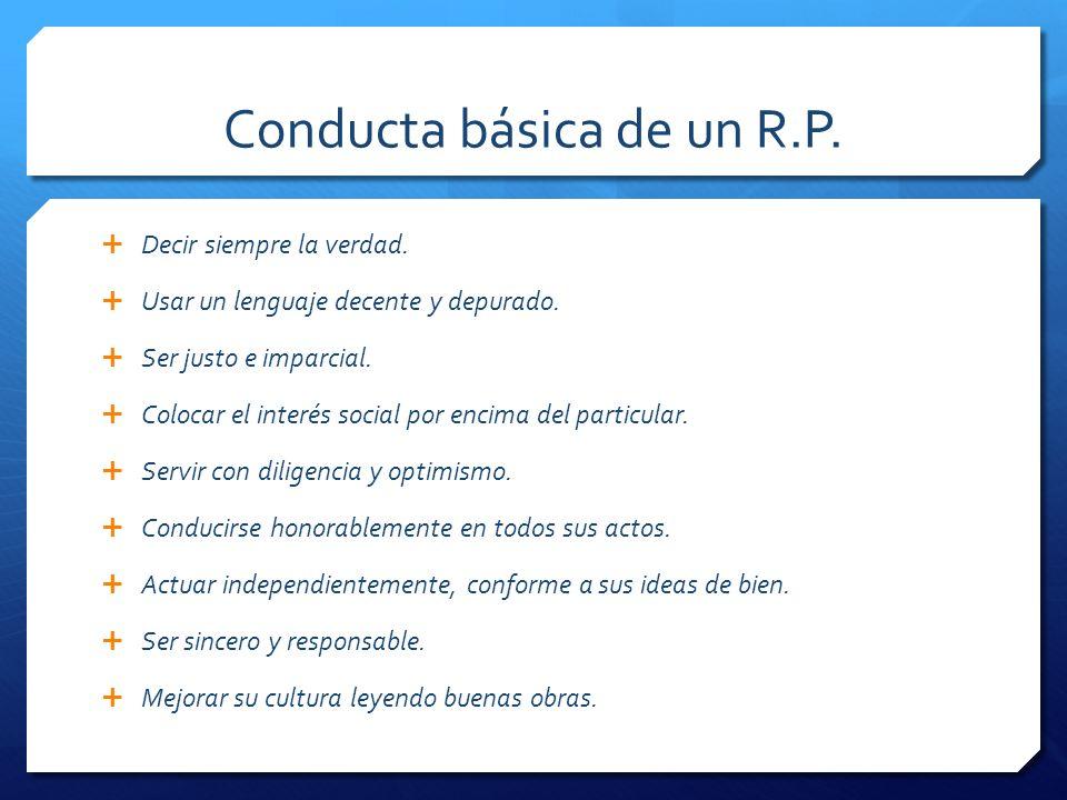 Conducta básica de un R.P.