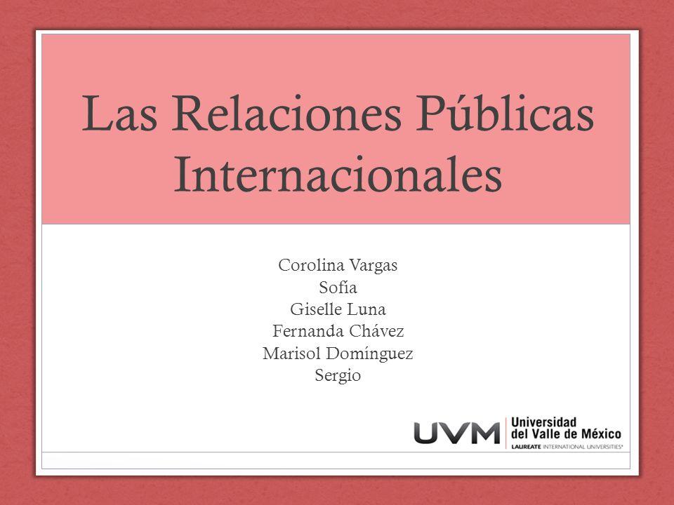 Las Relaciones Públicas Internacionales