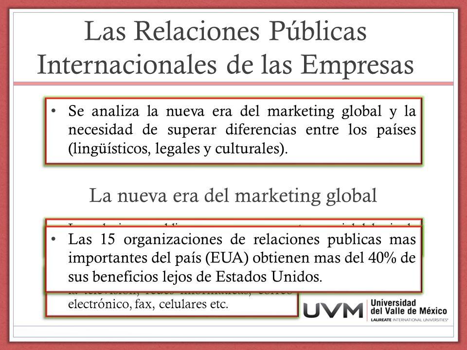Las Relaciones Públicas Internacionales de las Empresas