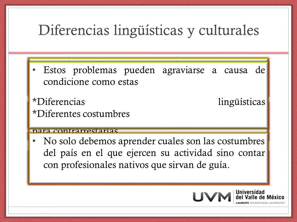 Diferencias lingüísticas y culturales
