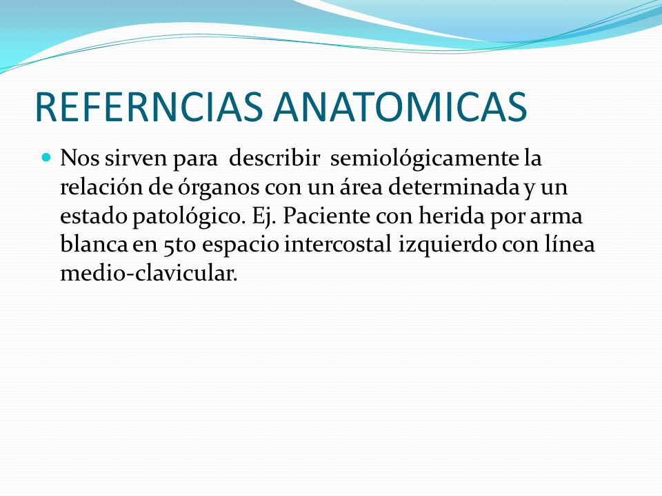 REFERNCIAS ANATOMICAS
