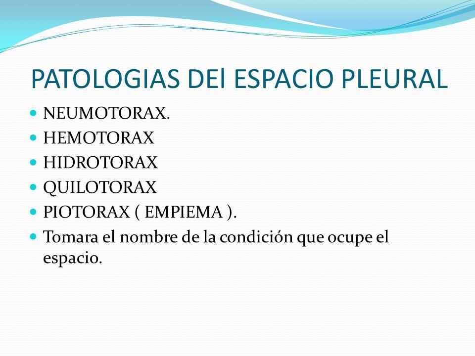 PATOLOGIAS DEl ESPACIO PLEURAL