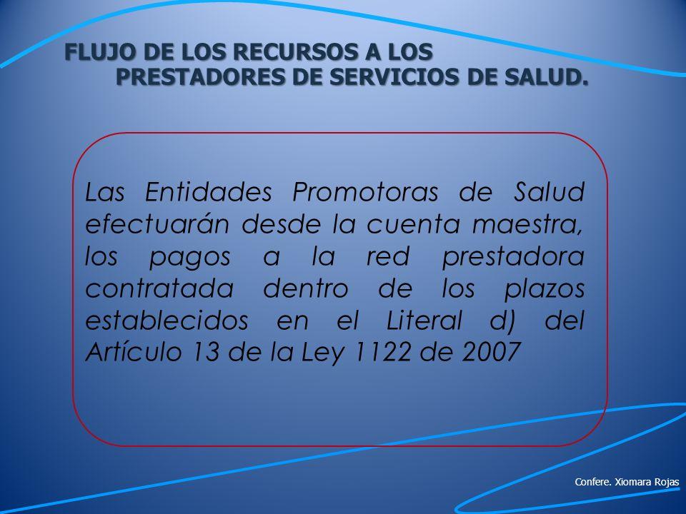 FLUJO DE LOS RECURSOS A LOS PRESTADORES DE SERVICIOS DE SALUD.