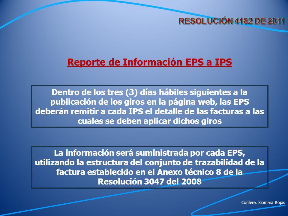 Reporte de Información EPS a IPS