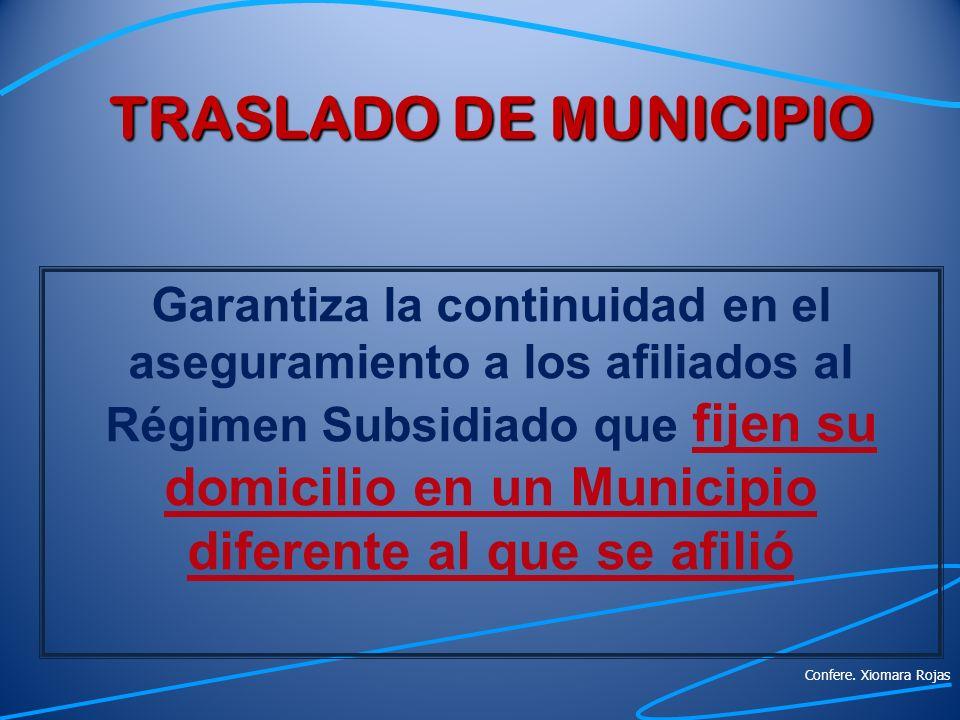TRASLADO DE MUNICIPIO