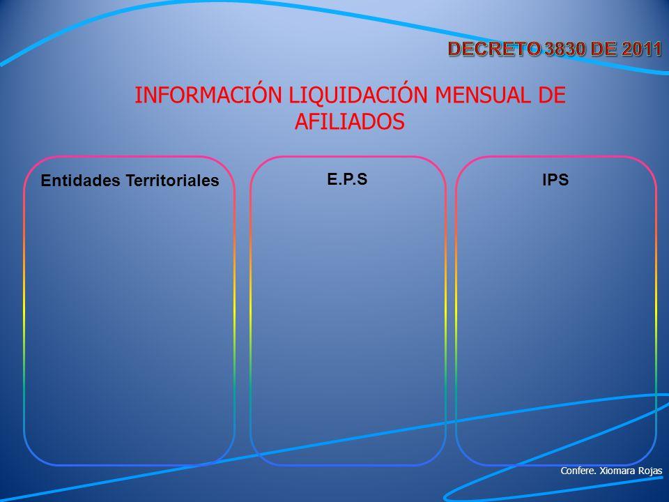 INFORMACIÓN LIQUIDACIÓN MENSUAL DE AFILIADOS
