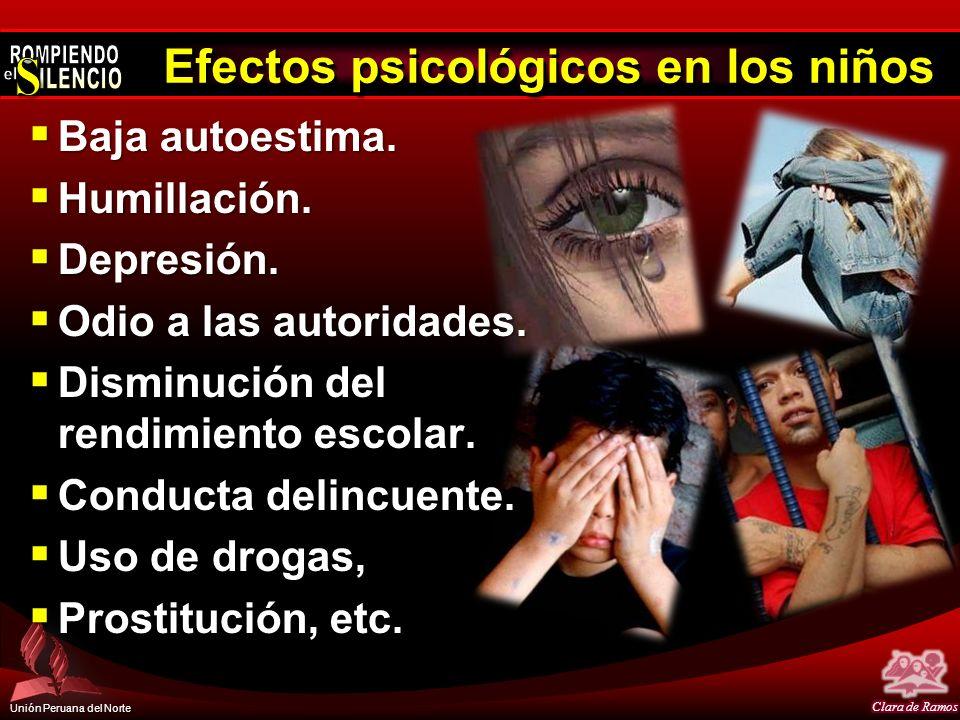 Efectos psicológicos en los niños