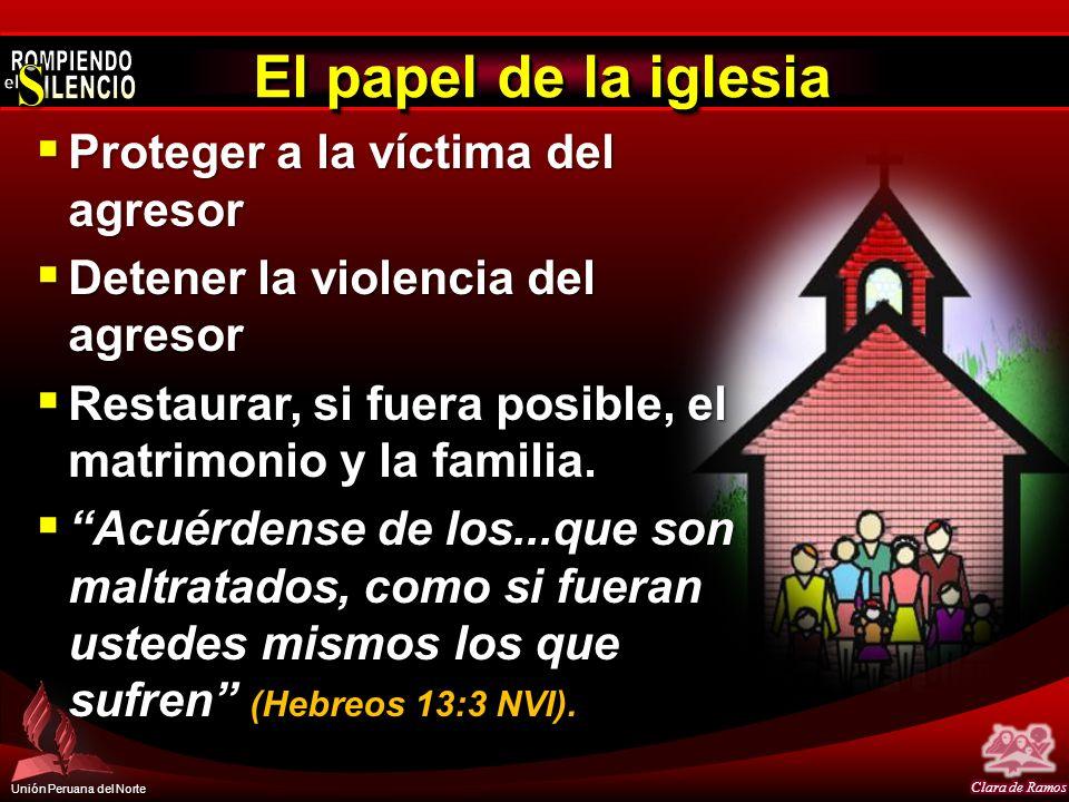 El papel de la iglesia Proteger a la víctima del agresor