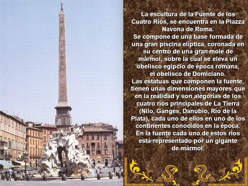 el obelisco de Domiciano.