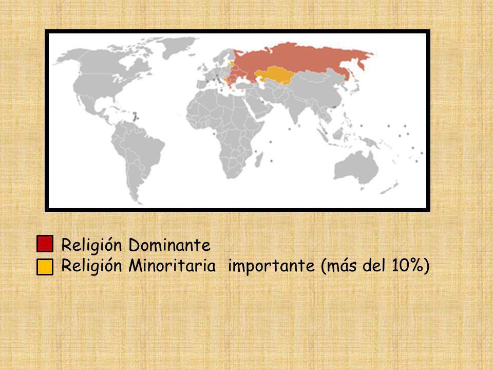 Religión Dominante Religión Minoritaria importante (más del 10%)