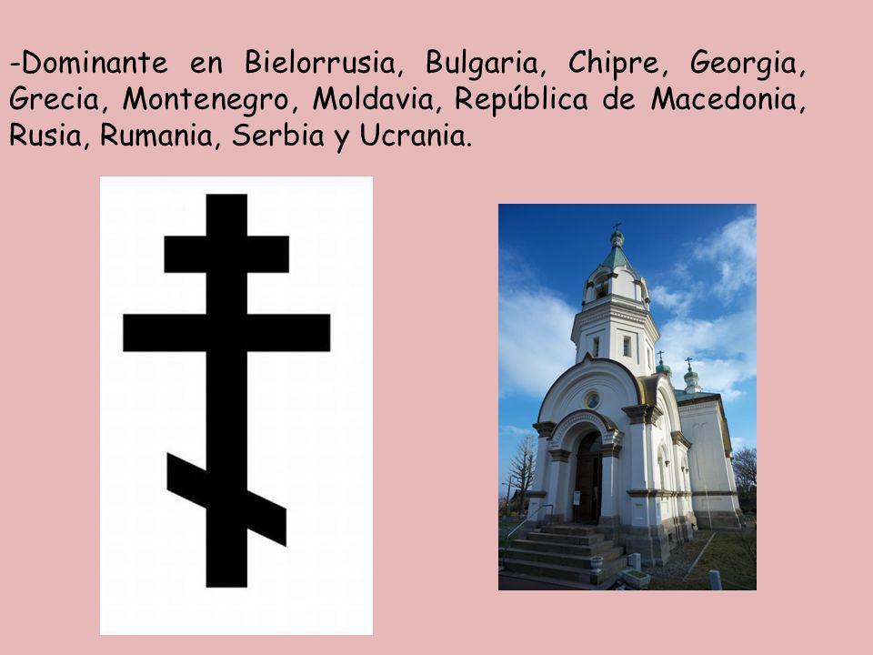 -Dominante en Bielorrusia, Bulgaria, Chipre, Georgia, Grecia, Montenegro, Moldavia, República de Macedonia, Rusia, Rumania, Serbia y Ucrania.