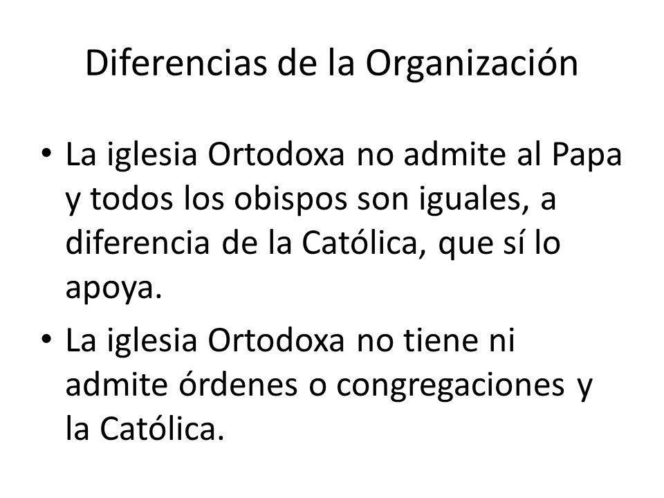 Diferencias de la Organización