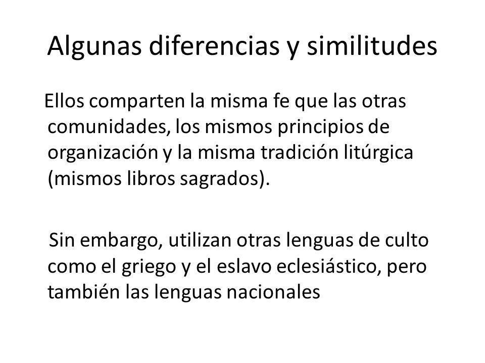 Algunas diferencias y similitudes