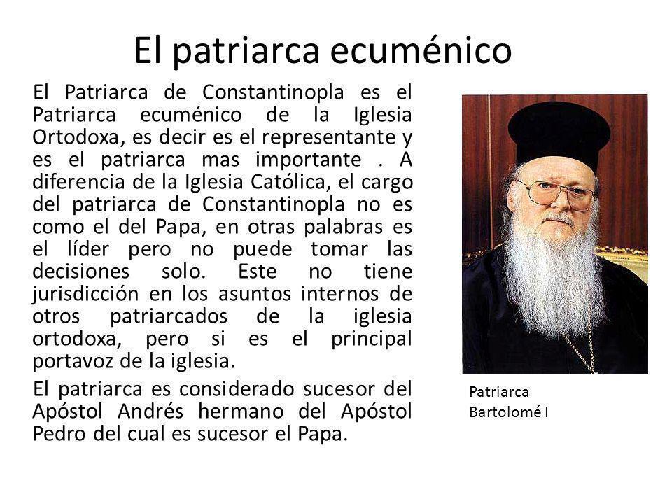 El patriarca ecuménico