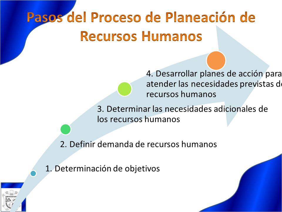 Pasos del Proceso de Planeación de Recursos Humanos