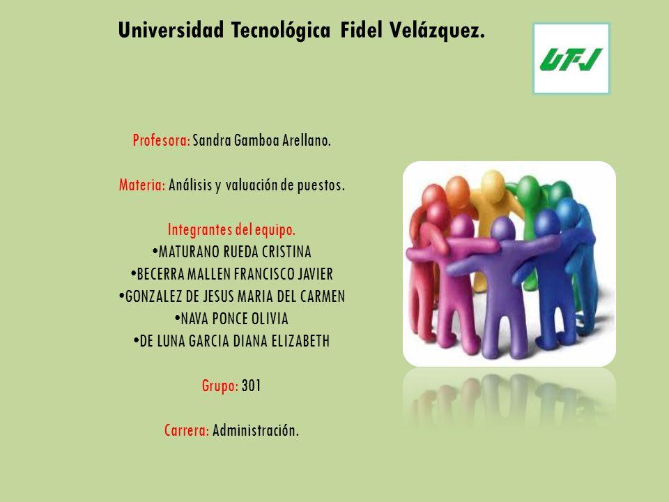 Universidad Tecnológica Fidel Velázquez.