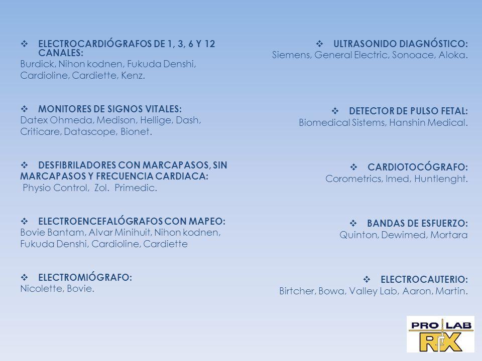 ELECTROCARDIÓGRAFOS DE 1, 3, 6 Y 12 CANALES: