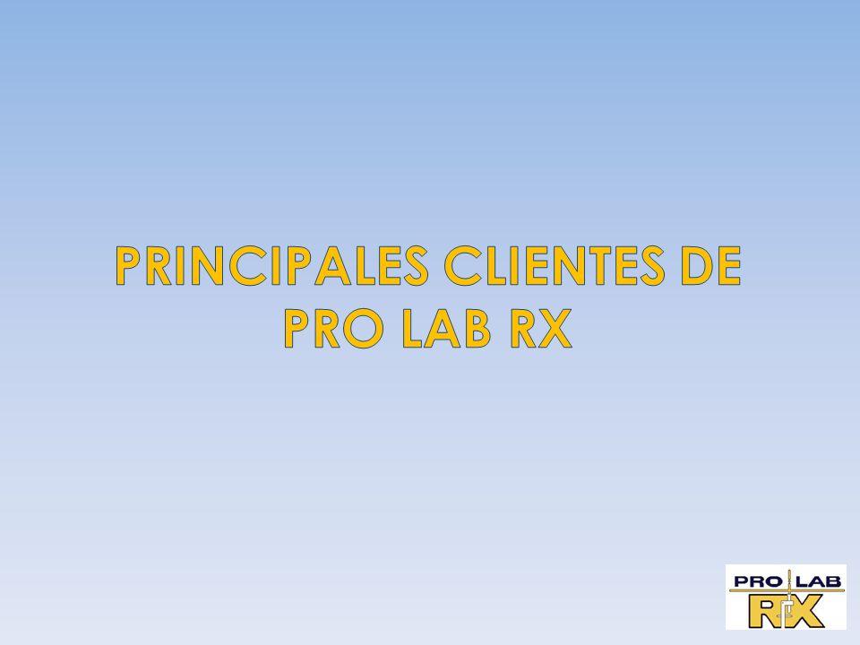 PRINCIPALES CLIENTES DE PRO LAB RX