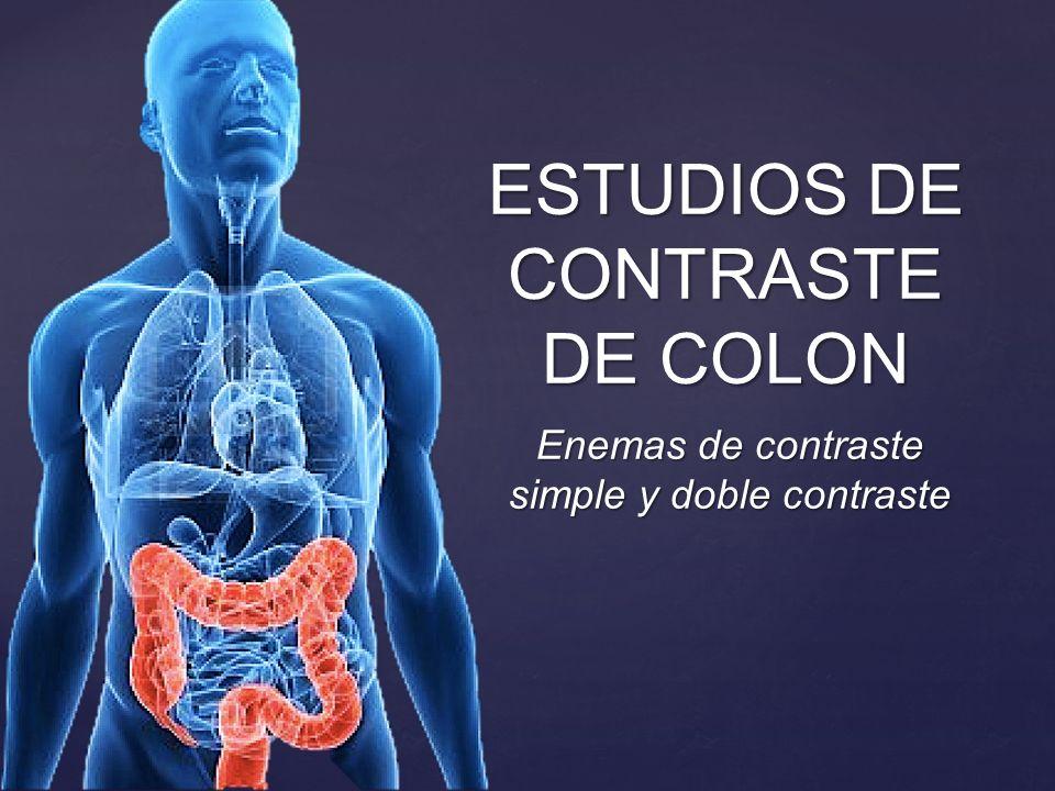 ESTUDIOS DE CONTRASTE DE COLON