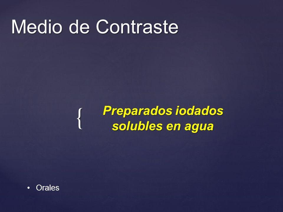Preparados iodados solubles en agua